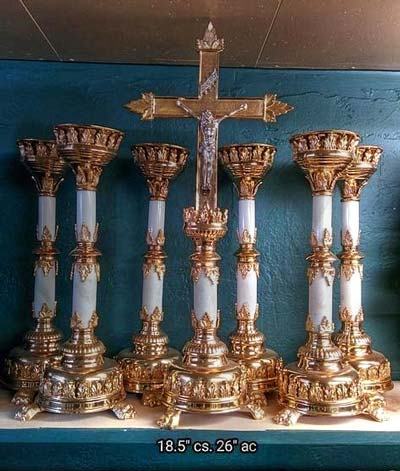 Candlesticks & Altar Cross