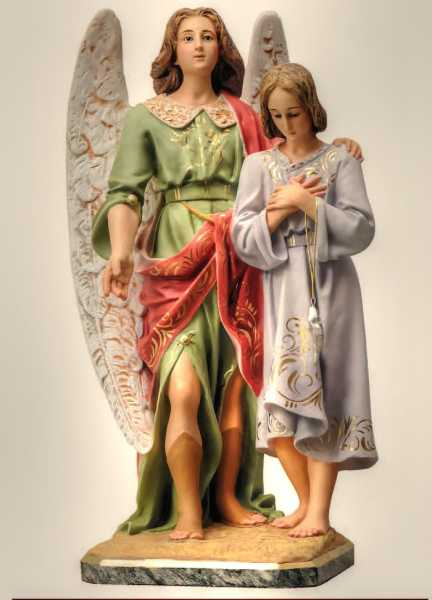 Archangel-Raphael-with-Tobias-Statue