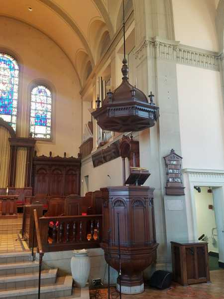 Incredible-Early-Antique-Pulpit-with-Soundboard
