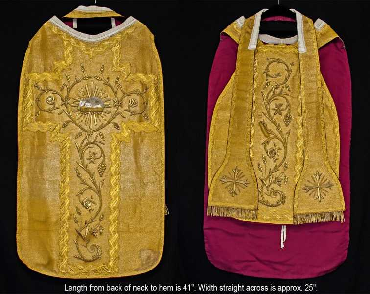 Antique-Fiddleback-Priest-Vestment