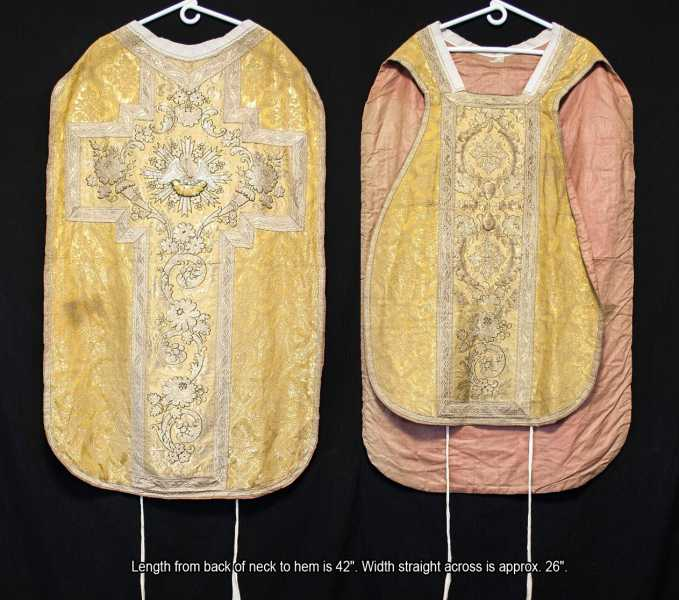 FIDDLEBACK-CHASUBLE-Pelican-in-Her-Piety-Priest-Vestments-Roman