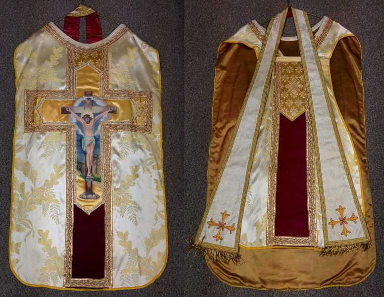 Fiddleback-vestment-gold-painting